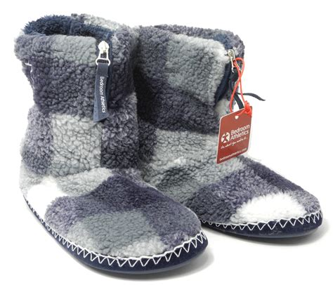 sherpa slippers mens bedroom athletics sherpa fleece warm fur zipped boots