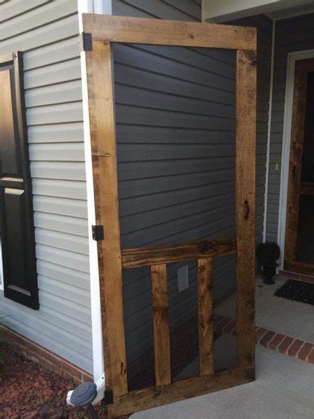 24 Wood Screen Door by 24 Awesome Diy Screen Door Ideas To Build New Or Upcycle