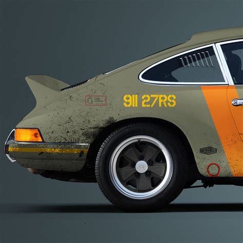 Porsche Poster by Porsche 911 2 7 Rs Us Air Livery Poster Vertical