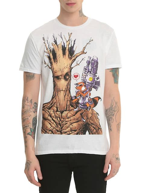 T Shirt Pria Groot Guardians Of The Galaxy 1 marvel guardians of the galaxy rocket groot t shirt topic