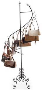 spiral purse tree merchandise rack with 15 cascading hooks