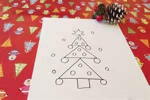 como dibujar arbol de navidad c 243 mo dibujar un 225 rbol de navidad con los ni 241 os
