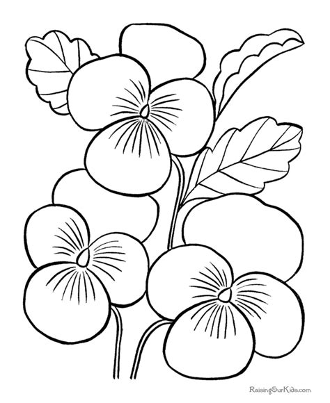 printable flowers in color printable flowers pages to color 036