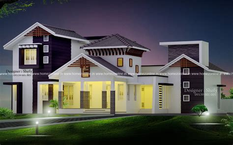 modern kerala style house 2400 sq ft homezonline