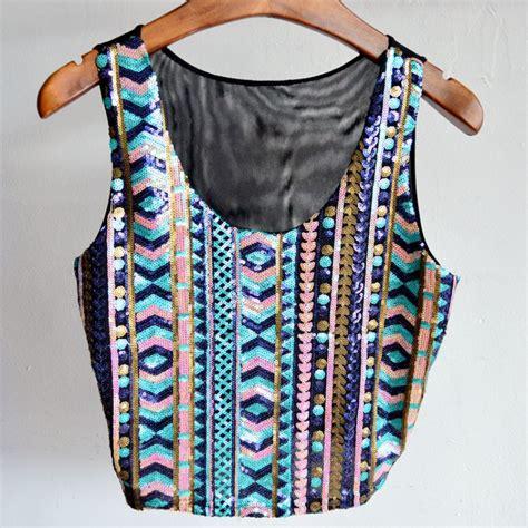 Glitter Sleevless Blouse summer tank tops vest womens glitter sequin blouse