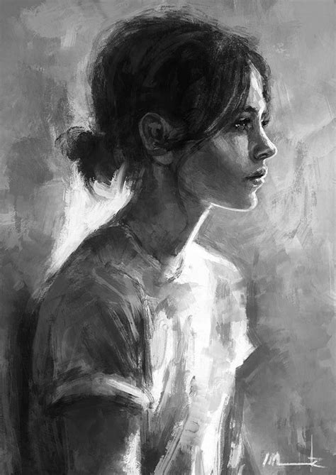 black and white painting ideas 25 amazing digital paintings artworks portrait and far