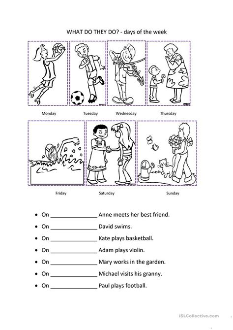 s big week a story about living with noonan books days of the week worksheet free esl printable worksheets