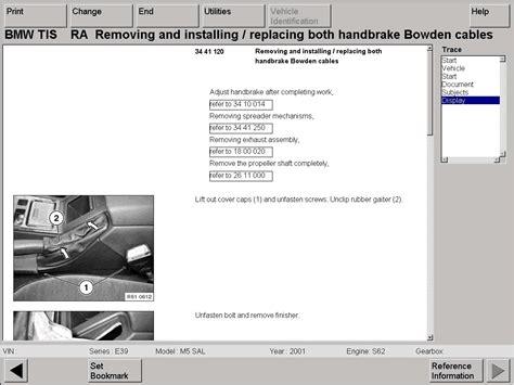 bmw workshop bmw technical information system on cd