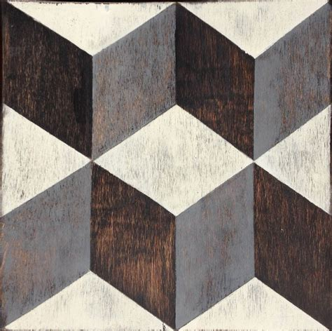Pattern Block Tiles | tumbling blocks hardwood floor tile mirth studio