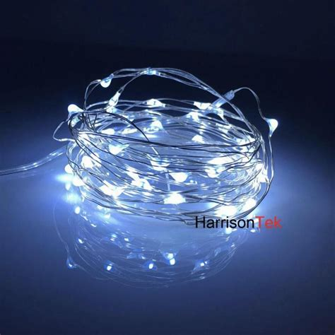 100 5m 50 led battery multi color ultra thin copper wire