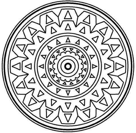 medallion mandala mosaic coloring page download print
