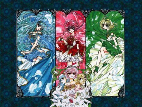 magic rayearth umi fuu and hikaru magic knights rayearth wallpaper