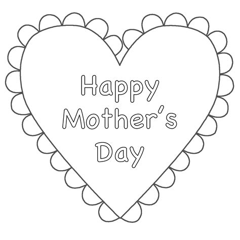 happy mothers day coloring page happy day coloring pages