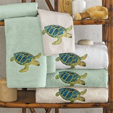 sea turtle bathroom accessories island sea turtle towels gump s