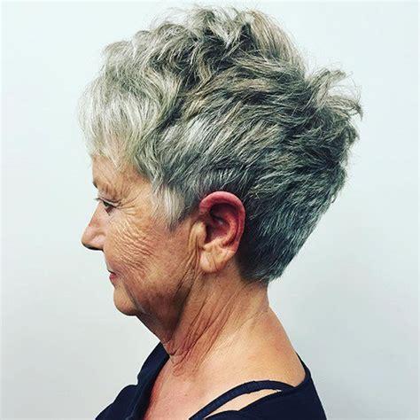 easy short pixie bob haircuts  older women