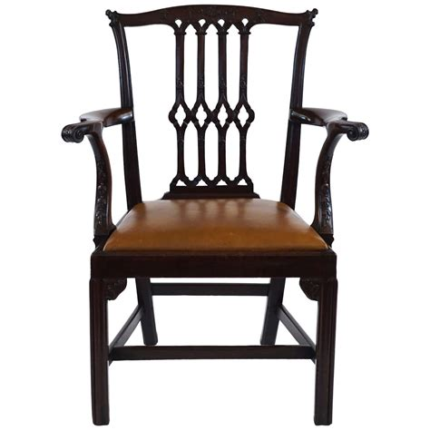 mahogany armchair fine gothic chippendale mahogany armchair england circa