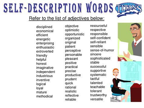 19 beautiful descriptive words for resume pics education resume