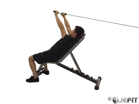 reverse grip incline bench cable reverse grip incline tricep extension exercise