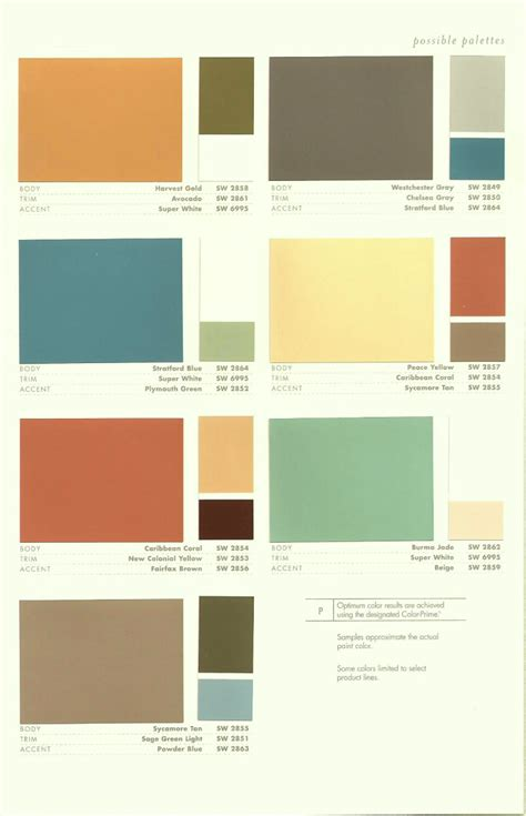 paint palettes for home 2009 interior paint colors inspire