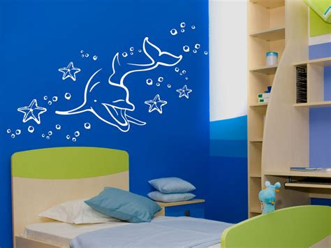 Wandtattoo Kinderzimmer Delfin by Delfin Wandtattoo Dephin Seesterne Bei Wandtattoos De