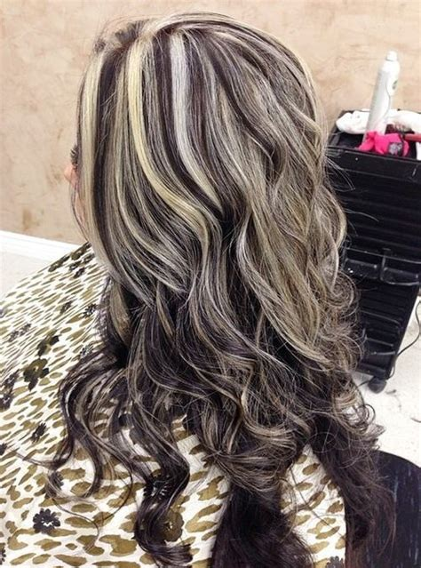 silver highlighted hair styles 40 ideas of gray and silver highlights on brown hair