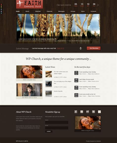 themes wordpress church wp church a premium nonprofit wordpress theme free