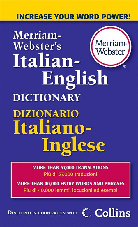 buy merriam websters italian english dictionary