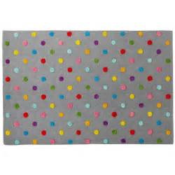 rugs multi color dot grey rug the