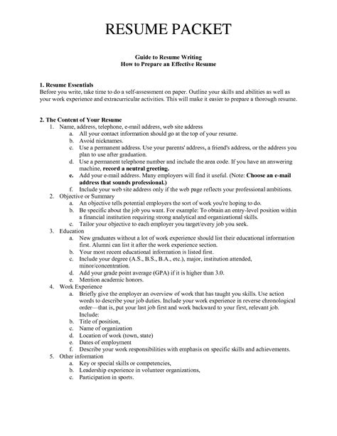 guide to resume writing how to prepare an effective resume get a resume