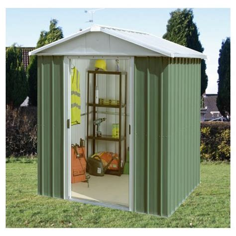 buy yardmaster apex metal shed from our metal sheds range