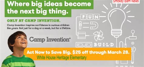 white house heritage elementary c invention this summer sign up early and save