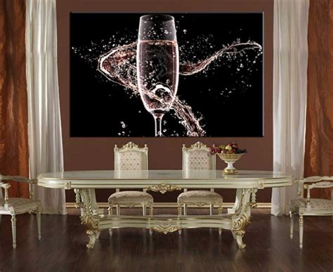 wine wall decorating dining room large size home design