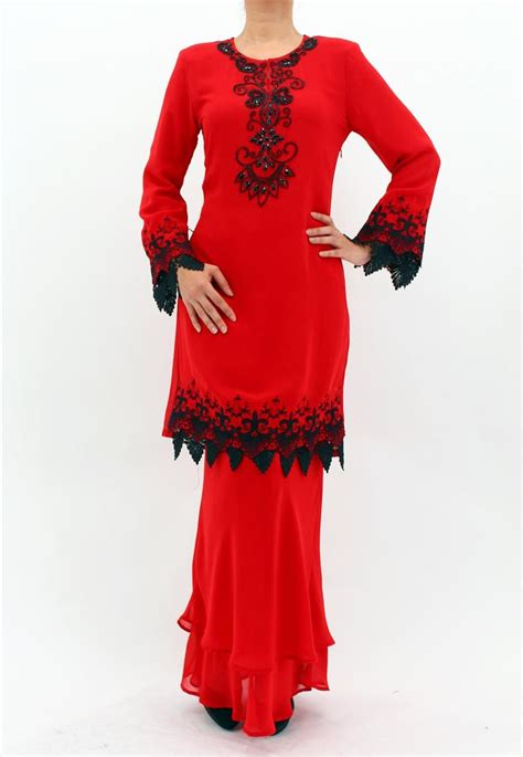 Dress Black Lace Polka Blue Baju Wanita Pakaian Cewek Fashion Pere rasa sayang chiffon lace baju kurung moden set 326