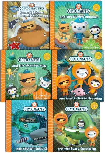 the octonauts underwater adventures box set books octonauts series 6 book collection set with sticker book