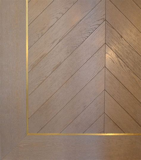 Oak Chevron with brass inlay border   WE DIG PATTERNS