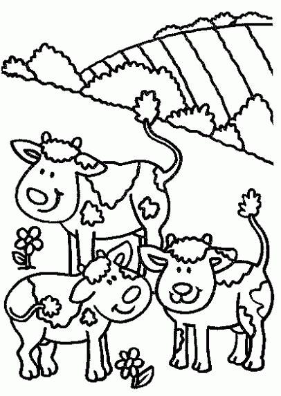 imagenes para dibujar vacas dibujos infantiles de vacas para colorear imagui