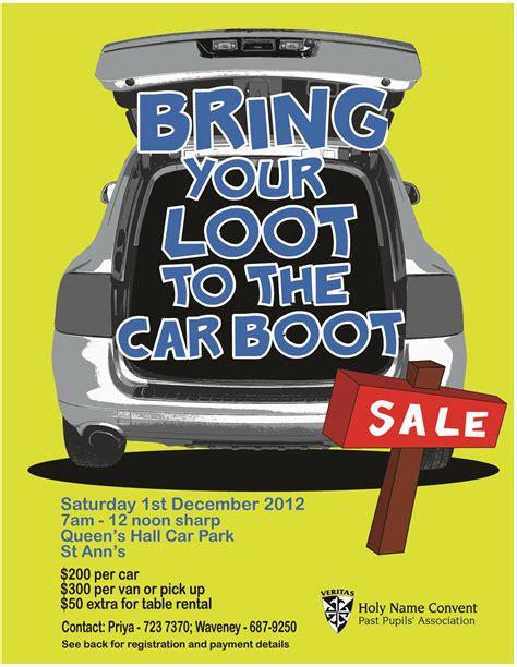 boot sales holy name convent car boot sale s