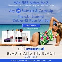 Vacation Contests And Giveaways 2014 - dream vacation giveaway launched by e l f cosmetics and swimsuitsforall