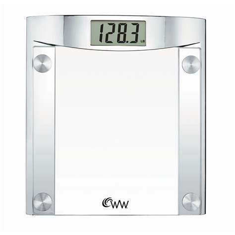 shop weight watchers clear digital bathroom scale at lowes com