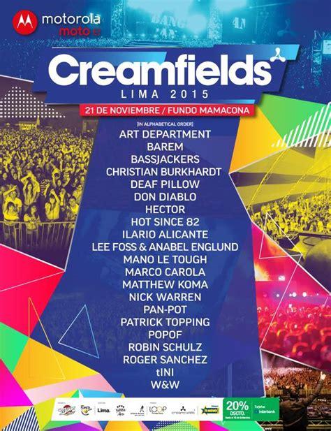 creamfields entradas creamfields lima per 250 2015