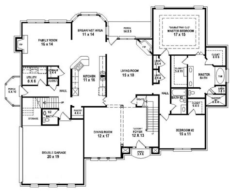 5 bedroom 3 bath floor plans 654258 4 bedroom 3 5 bath house plan house plans