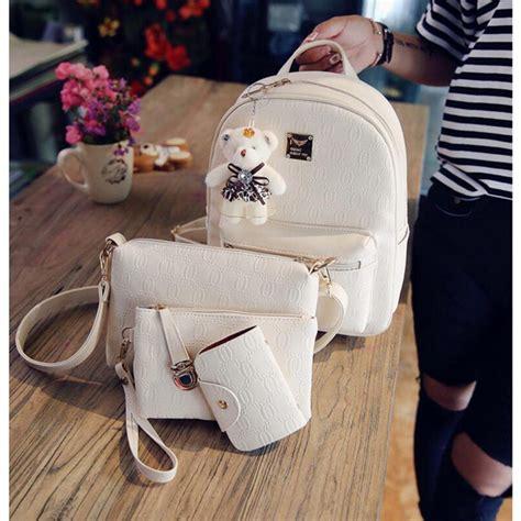 Bag Ransel Fashion W3676 tas ransel fashion wanita bag in bag 4 in 1 beige jakartanotebook