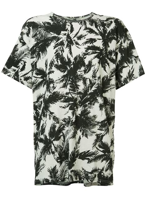 Bombboogie Tree Of lyst attachment palm tree t shirt in white for