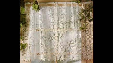 como tejer cortina  punto calado crochet youtube