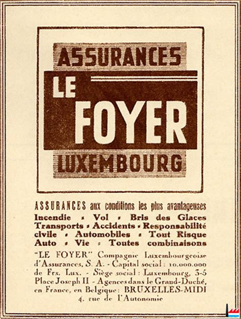 le foyer luxembourg assurances et industries au luxembourg
