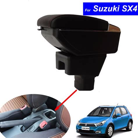 Suzuki Interior Parts by Car Armrest Leather Console Storage Box Decoration For