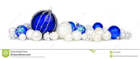 white blue ornaments blue and white ornament border stock photo