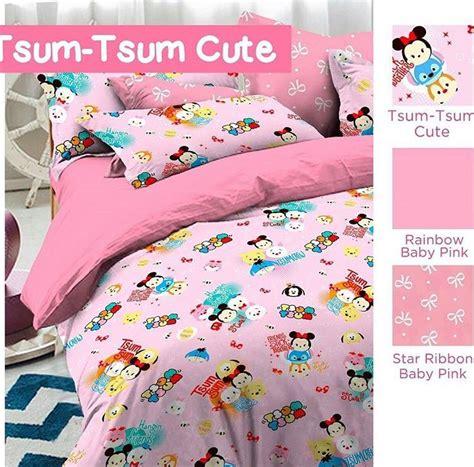 Sprei Tsum Tsum In detail product sprei dan bedcover tsum tsum pink