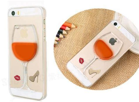 Iphone 5 5s 5c Se Line 3d Softcase wine glass gel moving liquid 3d cover for iphone se 5 5c 5s 6 6s plus
