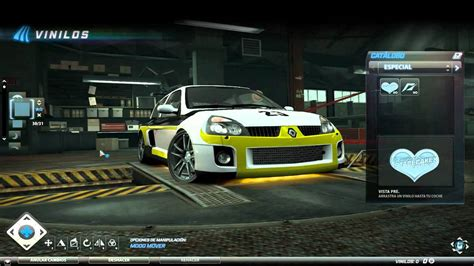 renault clio v6 nfs need for speed world vinyls visual renault clio v6 youtube